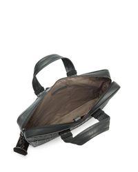 Bottega Veneta - Black Leather Messenger Briefcase for Men - Lyst