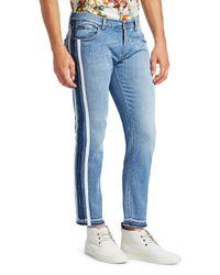 Dolce & Gabbana Blue Jogger Striped Slim Jeans for men