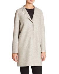 Harris Wharf London - Gray Wool Cocoon Coat - Lyst