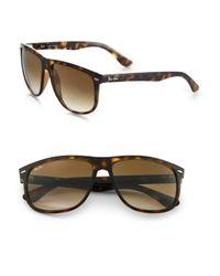 Ray-Ban | Brown Flat Top Boyfriend Wayfarer Square Sunglasses | Lyst