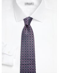 Charvet - Blue Leaf Allover Silk Tie for Men - Lyst