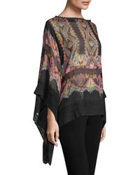 Etro Women's Silk Drape Top - Black