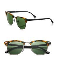Ray-Ban - Brown Iconic Clubmaster Sunglasses - Lyst