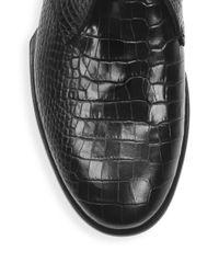 Rag & Bone Black Audrey Desert Leather Oxfords