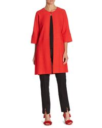 St. John Red Dolman Sleeve Jacket
