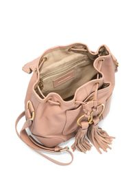 See By Chloé Multicolor Small Polly Whipstitch Suede & Leather Bucket Bag