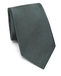 Loro Piana Green Solid Twill Tie for men