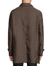 Isaia - Brown Extra-light Aqua Double Face Aincoat for Men - Lyst