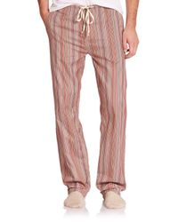 Paul Smith | Red Striped Cotton Pajama Pants for Men | Lyst