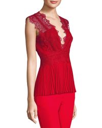 Yigal Azrouël - Embroidered Lace Pleated Top - Lyst