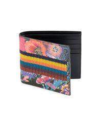 Paul Smith Black Leather Fish Bi-fold Wallet for men