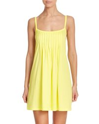 Hanro | Yellow Juliet Cotton Pleated Babydoll Gown | Lyst
