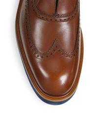 Ferragamo   Brown Frankfort Leather Wingtip Oxfords for Men   Lyst