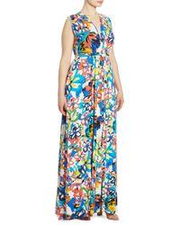 Rachel Pally - Blue Floral Sleeveless Maxi Dress - Lyst