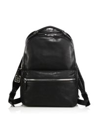 Shinola Black Runwell Leather Backpack for men