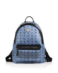 MCM - Blue Special Stark Medium Backpack for Men - Lyst
