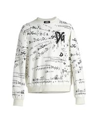 Dolce & Gabbana Multicolor Script Graffiti Logo Sweatshirt for men