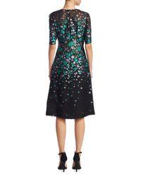 Lela Rose - Black Holly Silk Dress - Lyst