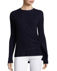 Brochu Walker - Blue Gray Cashmere & Wool Wrap Sweater - Lyst