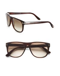 Tom Ford Brown Olivier Oversized Wayfarer-inspired Acetate Sunglasses