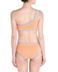 Fendi - Orange One-shoulder Two-piece Bikini Set - Lyst