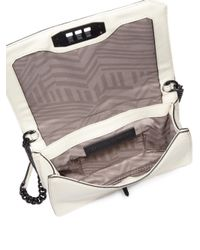 Rebecca Minkoff | White Love Small Chevron Quilted Leather Crossbody Bag | Lyst