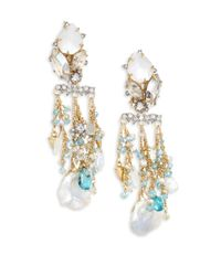 Alexis Bittar - Metallic Elements Multi-crystal Chandelier Earrings - Lyst