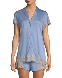 Natori - Blue Charlize Pajama Set - Lyst