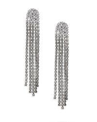 Adriana Orsini - Metallic Crystal Tassel Earrings - Lyst