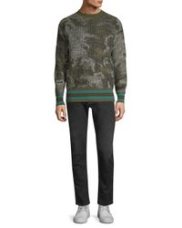 Diesel Black Gold - Green Dbg Camo Knit Sweater for Men - Lyst