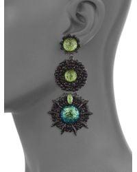 Erickson Beamon - Green Fantastic Voyage Drop Earrings - Lyst