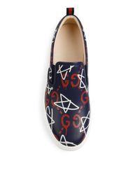 Gucci Blue Ghost Dublin Slip-on Sneakers
