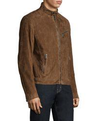 Ralph Lauren Purple Label - Brown Suede Randall Biker Jacket for Men - Lyst