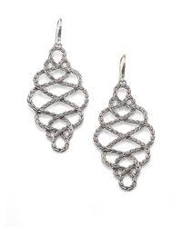 John Hardy   Metallic Classic Chain Sterling Silver Large Braided Drop Earrings   Lyst