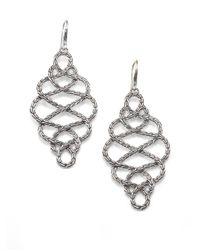 John Hardy | Metallic Classic Chain Sterling Silver Large Braided Drop Earrings | Lyst