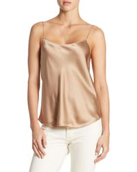 Vince Natural Scallop Silk Chemise