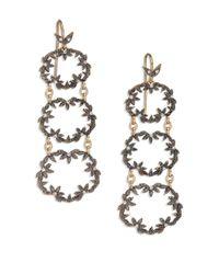 Mizuki - Diamond, 14k Yellow & 14k Blackened Gold Link Drop Earrings - Lyst