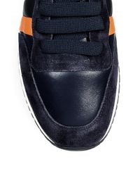 Paul Smith - Blue Striped Low-top Leather Sneakers for Men - Lyst