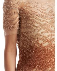 Pamella Roland Multicolor Ombré Sequin Bodycon Dress
