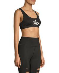 Alo Yoga Women's Ambient Sports Bra - Black - Size Medium