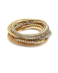 ABS By Allen Schwartz - Metallic Multi Crystal Stretch Bracelet Set - Lyst