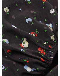 Ganni - Black Nolana Wrap Silk Top - Lyst