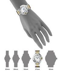 Cartier - Metallic Ballon Bleu De 18k Yellow Gold & Stainless Steel Automatic Bracelet Watch - Lyst