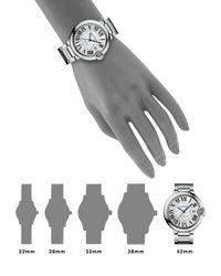 Cartier - Metallic Ballon Bleu De Large Stainless Steel Bracelet Watch - Lyst