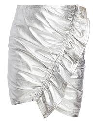 A.L.C. Metallic Jupiter Metleather Skirt
