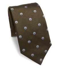 Saks Fifth Avenue - Green Sphere Dot Silk Tie for Men - Lyst
