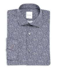 Paul Smith Blue Soho-fit Paisley-print Dress Shirt for men