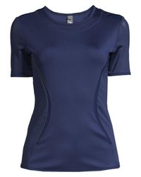 Adidas By Stella McCartney Blue Essential Recycled Polyester Workout Tee