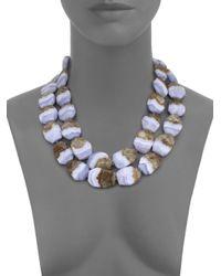 Nest - Purple Blue Lace Agate Double-strand Necklace - Lyst