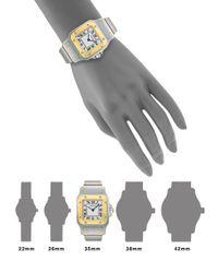 Cartier Metallic Santos De Galbée Small Stainless Steel & 18k Yellow Gold Bracelet Watch